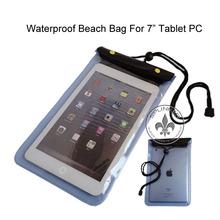 Zipper 2M Wateproof PVC Handle Beach Bags Phone Case For Ipad Mini P5918-113