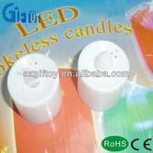 Round flameless pillar LED Candle