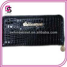 Fashion Black Croco Leather Wallet Women purse