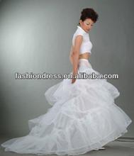 2013 Wholesale Hot Sale Long White Bridal Wedding petticoat A-P001