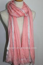 baju kebaya muslim modal scarf 93%modal &7%filmentary silver solid color SDV-005