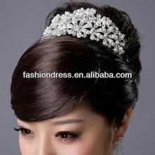 2014 Pearl and Rhinestone Handmade Wedding Tiara