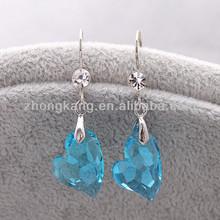 2013 Austrian crystal heart alloy earring