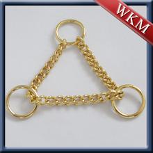 High quality metal chain martingale dog collars