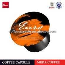 Mera blu coffee capsule high quality coffee roasted