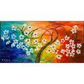 Main date Palette couteau, Fleur peinture à l'huile, Surréaliste art peinture à l'huile, Fantaisie fleur arbre