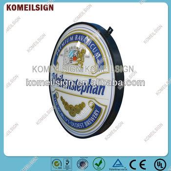 Aluminum acrylic round lightbox for advertising display