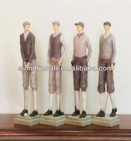 polyresin contry side antique vintage golf figures