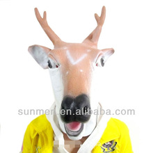 Creepy Deer Horse Mask Head Halloween Costume Theater Prop Novelty Latex Rubber and Mask for cosplay