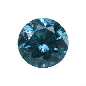 Diamante azul de 0.10 quilates (2.9 milímetros)