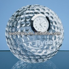 Crystal Golf Ball with Clock