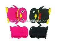 Case for iPad mini, Lovely penguin Silicon Case Cover For iPad mini
