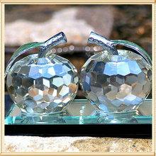 Two Crystal Apple Christmas Souvenir