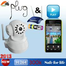 Plug & Play H.264 300k Pan Tilt Wifi Wireless Viewerframe Mode ip camera