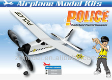 Police Rubber Powered Glider Flying Toy