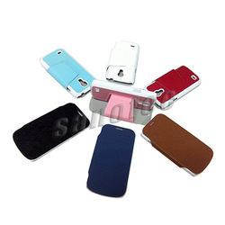 for Samsung S4 mini Crossing grain holder leather case