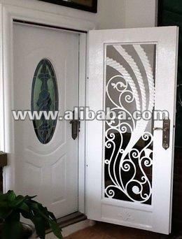 Forjado de hierro principal puerta de entrada puerta for Modelos de puertas de hierro con vidrio