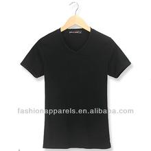 V-neck blank men\s t-shirt short sleeve