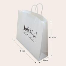 fashion white kraft paper shopping bag manufacture