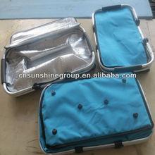 cheap picnic baskets wholesale with handle and aluminum foil