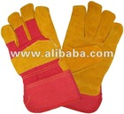 High Quality Golden Cow Split Full Palm Leather Work Gloves