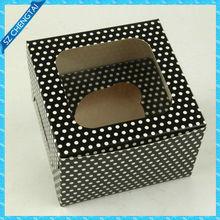 black dot printing paper card box