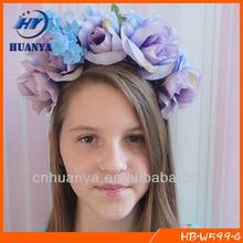 Floral Crown Headband, Flower Girl Halo, Flower Crown Headband Girls Princess Crown Headband