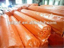 180gsm orange weather resistant and fire retardant pe tarpaulin