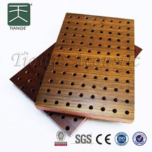 perforated thin wood panel