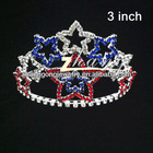 Small star design patriotic diamond pageant tiara. several sizes available