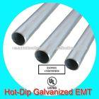 hot dip galvanized emt metal tube ul listed