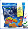 High quality zip seal plastic bags for chicken nuggets