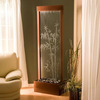 glass waterfall partition homes