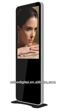 Apple design 32 inch floor standing advertising player,HDMI,VGA output,touch screen,WIFI,motion sensor option