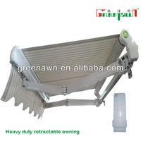 Motorized awnings for garages/terrace design/shelter for balcony