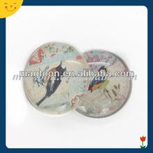 Removable permanent 3D glass magnetic freezer door stickers