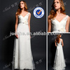 Gorgeous Luxe Chiffon Tulle Lace Appliqued A-line Wedding dress