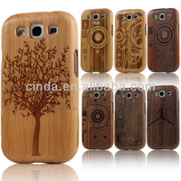 For Samsung Galaxy S3 SIII i9300 Carving Real Bamboo Wood Hard Back Case Cover