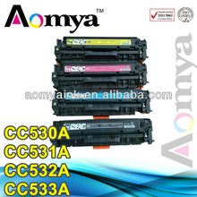 ZHUHAI!! High Yield Toner Cartridge 4 Pack Compatible HP CC530A CC531A CC532A CC533A Toner Cartridges.