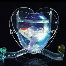 Clear Tabletop Plexiglass Acrylic Heart Shape Fish Bowl/Fish Jar/Tank/Aquarium