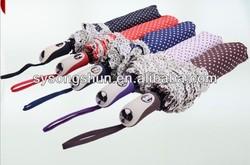 "21"" 53.5CM Windproof rubber handle 3 Foldable automatic umbrella"