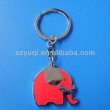 Cheap red elephant shape custom keyrings