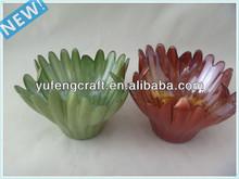 shape glass tealight candle holders leaf