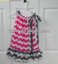 baby cenicienta de chevron para vestidos de moda de diseño pequeño vestido de las niñas