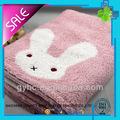 personalizado de hilados de algodón teñido de dibujos animados bebé toalla