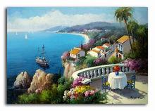 island scene handmade painting