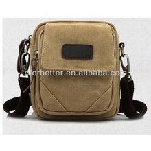 2013 Woman handbag/Canvas leather bag/Canvas bag with leather trim FB-CHB023