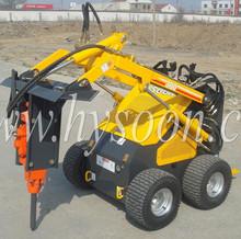 mini skid steer loader , small loader , wheel loader , digger ,breaker , sweeper , fork , hydraulic hammer and so on