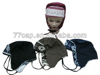 100% acrylic kids animal winter hats hip hop winter hat with fashion designs