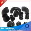 negro sin soldadura de acero al carbono tubos y accesorios